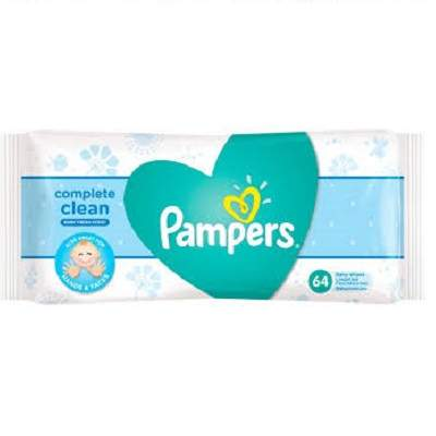 Pampers Complete Clean Мокри Крърпички 64 бр.