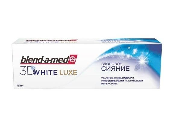 Blend-a-med 3D WHITE LUXE healthy shine - паста за зъби 75ml