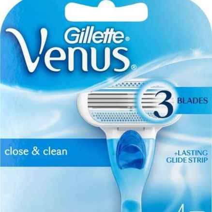 Gillette Venus Close & Clean 4 Резервни Ножчета