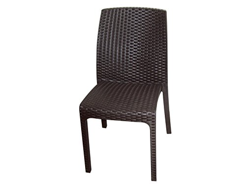 Стол пластмасов ратан Кафяв