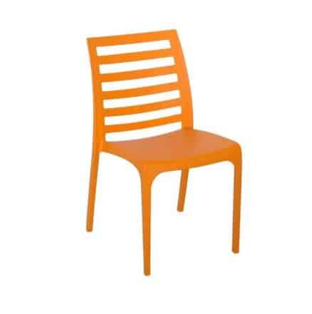 Пластмасов стол с решетъчен гръб