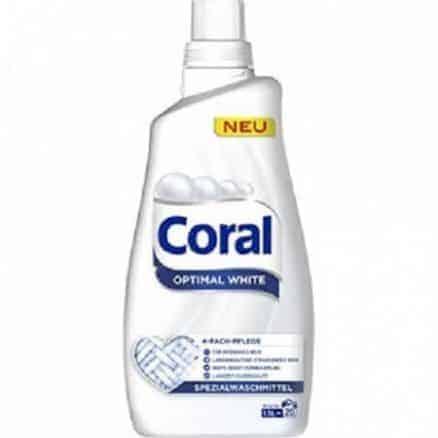Coral Течен Перилен Препарат за Бяло Пране 20 изпирания 1.5 л