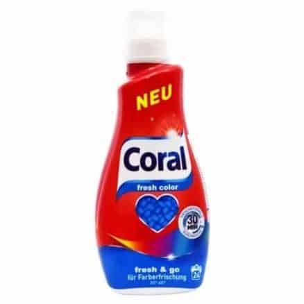 Coral Течен Перилен Препарат за Цветни Дрехи Fresh Color  24 изпирания 1.2 л.