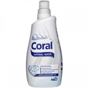 Coral Течен Перилен Препарат за Бели Дрехи Optimal White Течен 20 изпирания 1.5 л