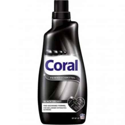 Coral Течен Перилен Препарат за Тъмно и Черно Пране Black Velvet 20 изпирания 1.5 l.