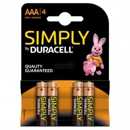 Duracell Simply Батерии – AAA 4бр.