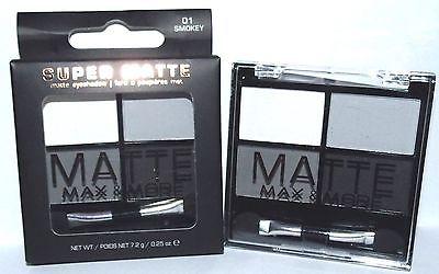 Max & More Super Matte Сенки за Очи с Матиращ Ефект – 01 Smokey