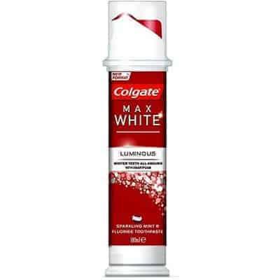 Colgate Max White Luminos Помпа Избелваща Паста за Зъби 100 мл