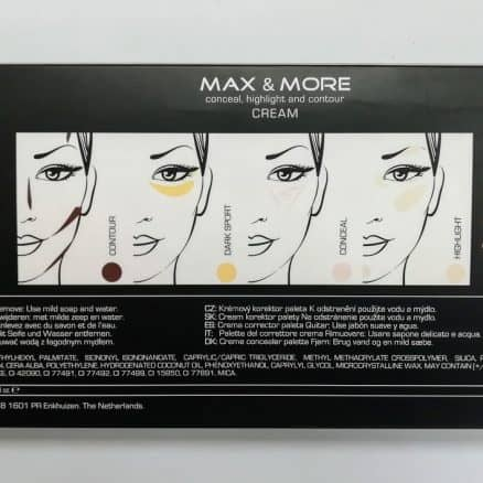 Max & More Палитра Коректори за Лице – Shape and Correct