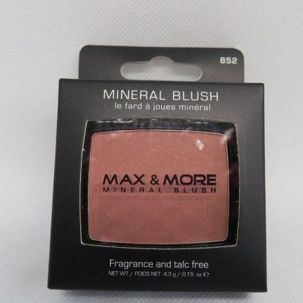 Max & More Минерален Руж с Огледалце и Четка – Brown