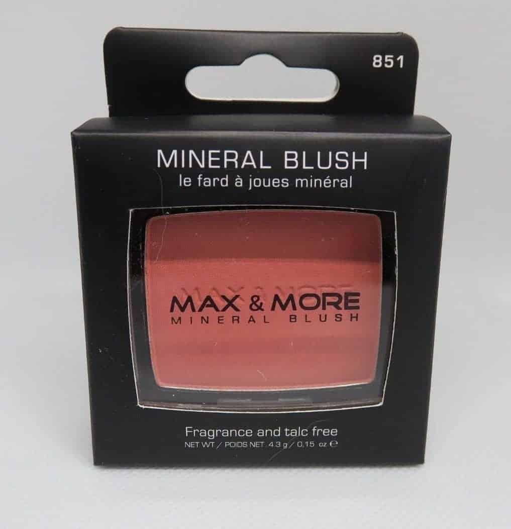 Max & More Минерален Руж с Огледалце и Четка – Peach