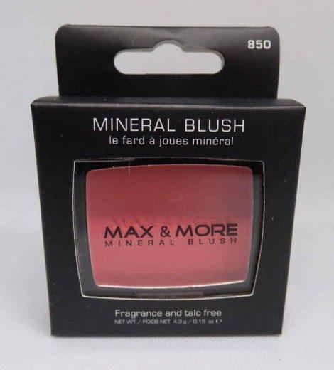 Max & More Минерален Руж с Огледалце и Четка – Pink