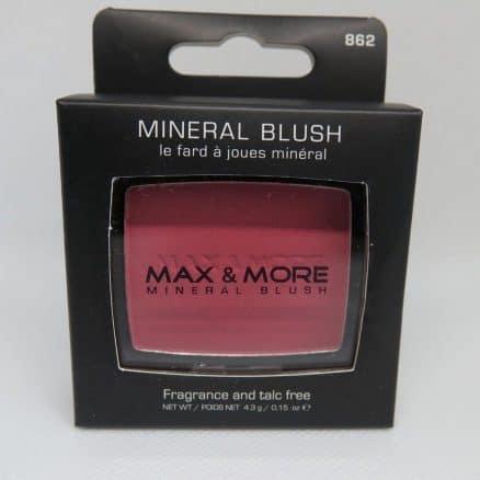 Max & More Минерален Руж с Огледалце и Четка – Rose