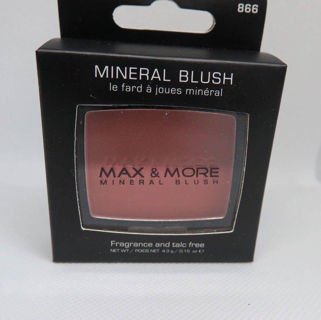 Max & More Минерален Руж с Огледалце и Четка – Rosewood