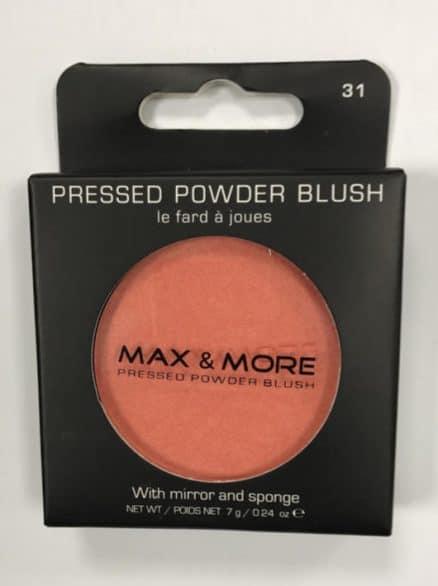 Max & More Руж с Огледалце и Памук – Peach