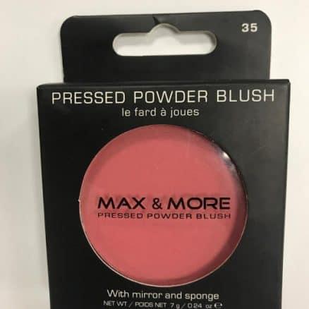 Max & More Руж с Огледалце и Памук – Pink Rose.