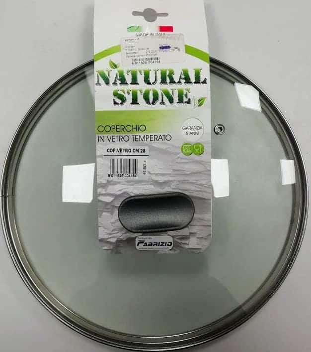 Natural Стоне Капак за Тенджера от Закалено Стъкло – 28 см.