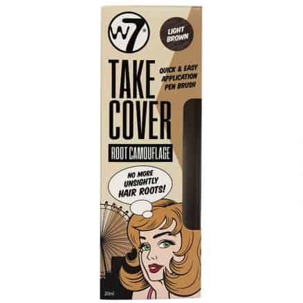 W7 Take Cover Root Camouflage Четка Коректор за Прикриване на Бели Косми Light Brown