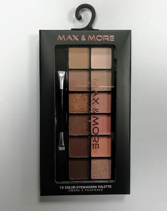 Max & More Eyeshadow Palette Палитра Сенки за Очи – 12 Цвятa