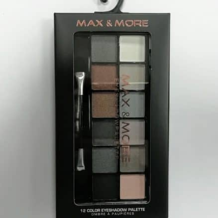 Max & More Eyeshadow Palette Палитра Сенки за Очи – 12 Цвятa