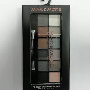 Max & More Eyeshadow Palette Палитра Сенки за Очи - 12 Цвятa