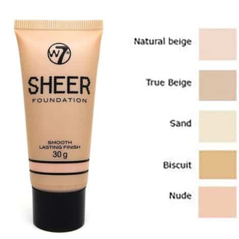 W7 Sheer Foundation Фон дъо Тен True Beige 30 g.