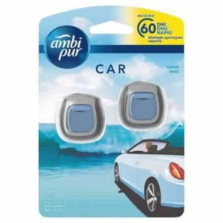 Ambi Pur Car Ароматизатор за Кола; Ocean Mist 2 x 2 ml.