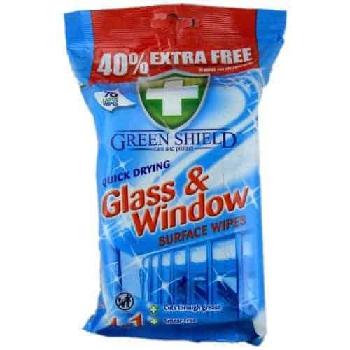Green Shield Мокри Кърпи за Прозорци 70 бр.