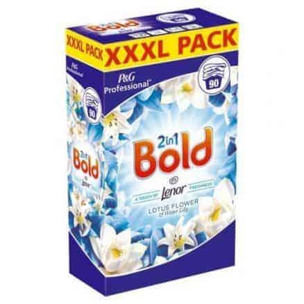 Bold Прах за Пране Professional 2in1 – Лотос и Лилия 90 Изпирания 5.850 г.