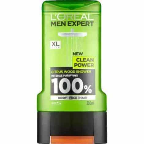 L´Oréal Men Expert Душ Гел – Clean Power 300 ml.