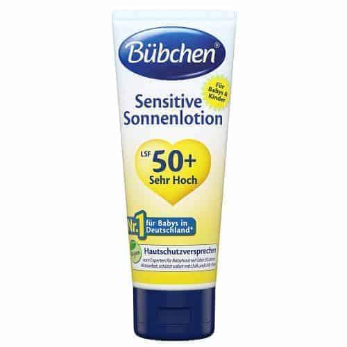 Bübchen Бебешки Слънцезащитен Крем – Sensitive SPF 50 + /100 ml.