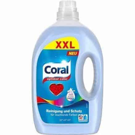 Coral Течен Перилен Препарат за Цветно Пране 60 Изпирания 3 л.