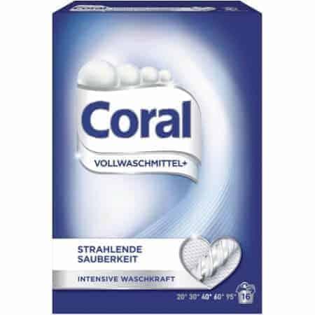 Coral Прах за Бяло Пране 16 Изпирания 1.12 кг.