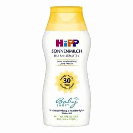 Hipp Бебешко Слънцезащитно Мляко - SPF 30 Ultra Sensitiv 50 ml.