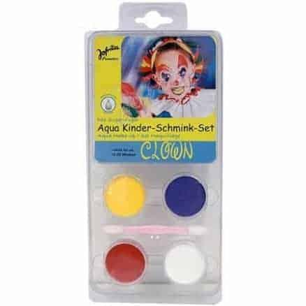 Jofrika Детски Водни Бои за Лице и Тяло – Clown 4 Цвята