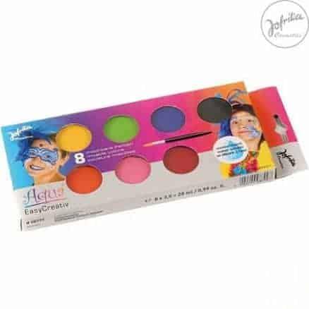 Jofrika Водни Бои за Лице и Тяло – Easy Creative 8 Цвята