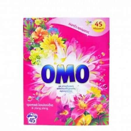 Omo Прах за Пране - Тропически Цветя 45 Изпирания