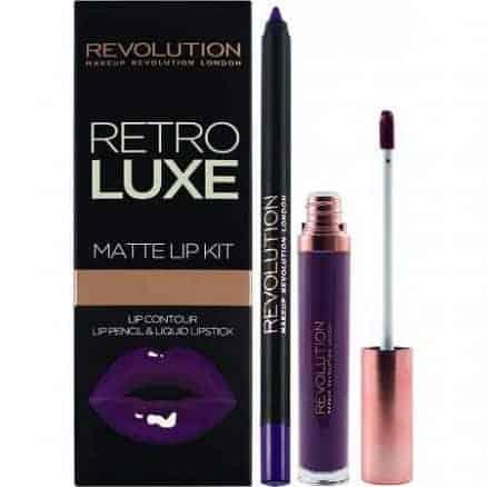 Revolution Retro Luxe Червило + Молив за Устни Matte Lip Kit - Royal