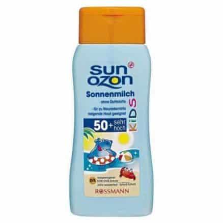 Rossmann Sun Ozon Детско Слънцезащитно Мляко - SPF 50/200 ml.