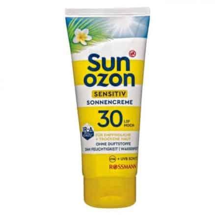 Rossmann Sun Ozon Слънцезащитен Крем - Sensitiv SPF 30/100мл.
