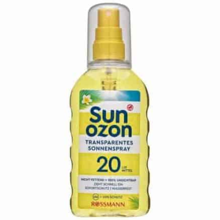 Rossmann Sun Ozon Слънцезащитен Спрей - SPF 20/200 ml.