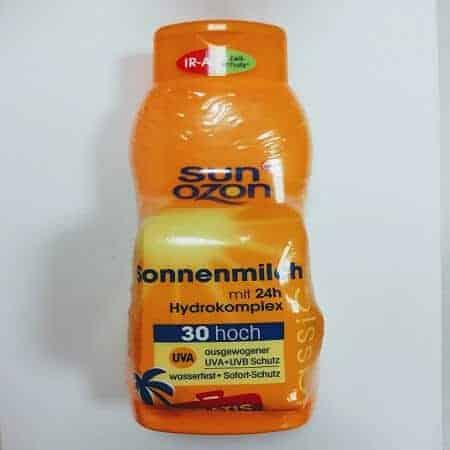 Rossmann Sun Ozon Слънцезащитно Мляко – Classic SPF 30 + Падарък Колан за Багаж