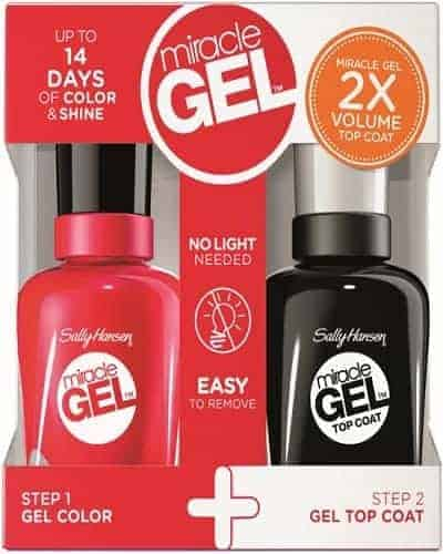 Sally Hansen Miracle Gel Гел Лак за Нокти + Топ Лак - 474 Can't Beet Roayalty