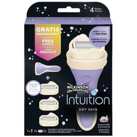 Wilkinson Sword Intuition Дамска Самобръсначка + 3 Ножчета - Dry Skin