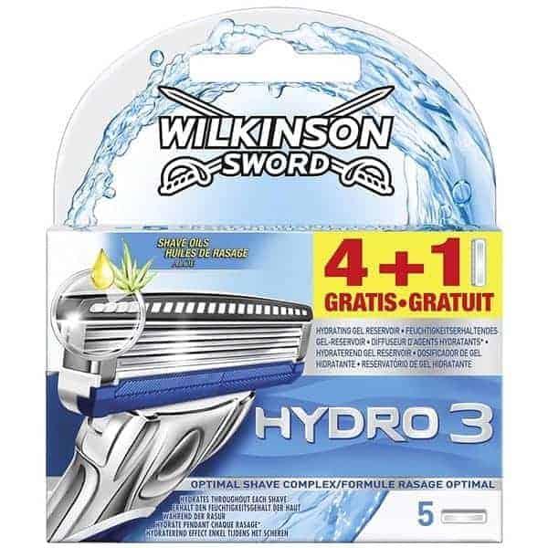 Wilkinson Sword Комплект 4 +1 Ножчета за Бръснене – Hydro 3