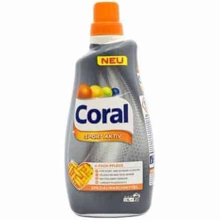 Течен Перилен Препарат за Спортни Дрехи Coral 20 изпирания 1.5 l.
