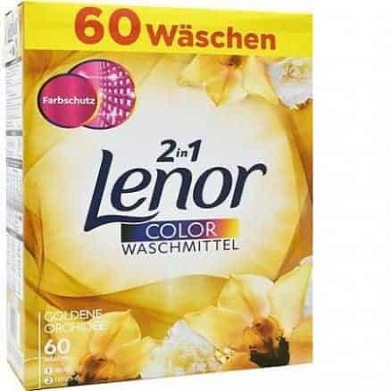 Прах за Цветно Пране Lenor 2in1 Golden Orchidee 60 Изпирания 3900 гр.
