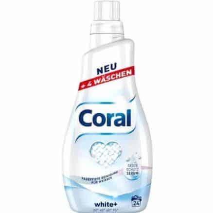 Течен Перилен Препарат за Бяло Пране Coral 24 изпирания 1.2 л
