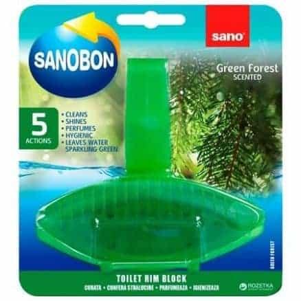 Ароматизатор за Тоалетна Sano Sanobon Фреш 5в1 Зелена Гора