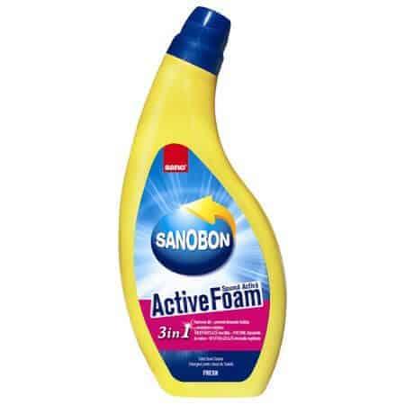 Почистващ Препарат за Тоалетна Активна Пяна 3в1 Sano Sanobon